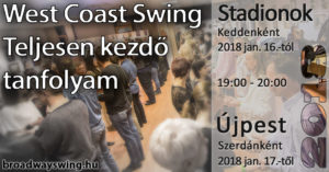 2018-as induló West Coast Swing tanfolyamok